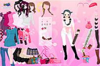 Play Pink Glitter Dress Up game