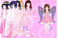 jugar Pink Butterfly Dress Up juego