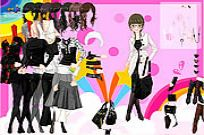 Play Black And White Dress Up game
