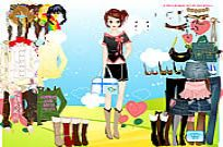 Play Barbie's Summer Dressup game