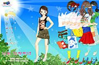 Play Sun And Leaves Dressup game