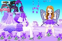 jugar Purple Butterfly Dress Up juego