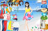 Play Beach Holiday Dress Up game