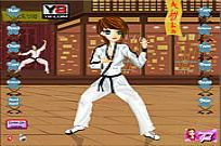 spielen Karate Kickin Chic Dress Up Spiel