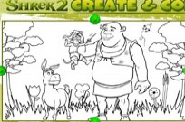 Shrek2 Create And Color Game