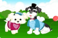 spielen Dressing Up Two Dogs Spiel