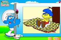 Play Color The Smurfs game