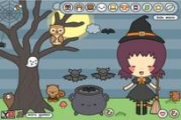 Buttons Halloween Dress Up Game