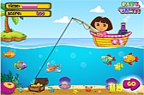 Play Dora Fishing 1 game