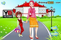 Play Go To School With Mother game