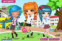 Play Cutie Trend School Girl Group Dress Up game