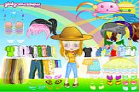 Play Cutie Doll Dress Up game