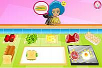 Play Breakfast Sandwich Shop game