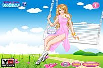 Play Swing Flying Girl game