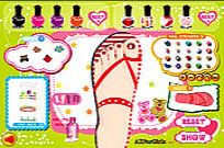 Play Sweet Feet Nail Polish game