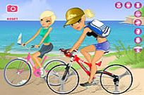 Play Maria And Sofia Go Biking game