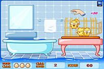 Play Huehnerwasser- Chicken Bath game