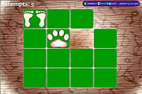 Play Animal Footprint Pairs game