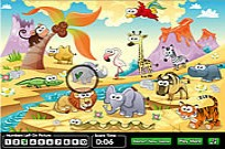 Hidden Numbers Zoo Game