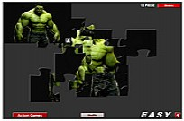 Play Green Hulk Jigsaw game