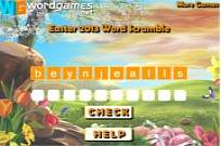 Play Easter 2013 Word Scramble game