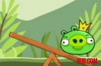 Play Angry birds bad piggies balance game