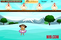 Play Dora Egg Catch game