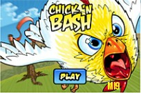 Play Angry Birds Chick'n Bash game