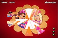 Play Barbie Fantasy Tale - Round Puzzle game