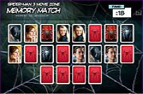 Play Spider-man 3 Memory Match game
