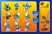 Play Smurfs Sports Pairs game