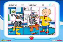 spielen Caillou Rotate Puzzle Spiel