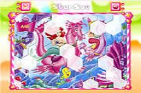 Play Princess Ariel Hexagon Puzzle game