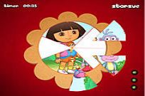 Play Dora The Explorer - Round Puzzle game