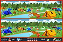 spielen Camping - Spot The Difference Spiel