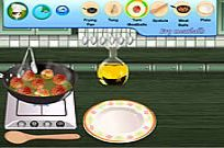 Play Sara's Cooking Class Swedish Meatballs game
