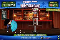 Play Cougar Town: Penny Can Game game