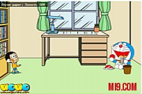 Play Nobi Nobita Paper Toss game