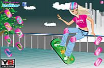 Play Crazy Skate Board Girl Dress Up game