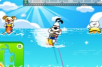 Play Dog Water Skiing game
