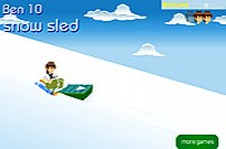 Ben 10 Snow Sled Game