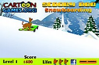 Play Scooby Doo Snowboarding game