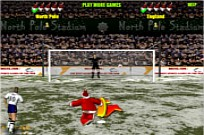 Play Santa's penalty kick world cup game