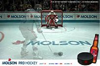 Play Molson Pro Hockey game